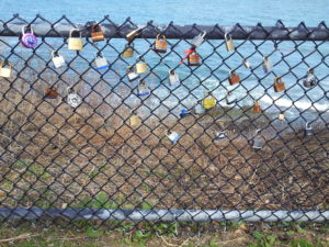 Cliff Walk love locks
